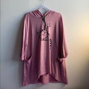 Cute Pink Kitty Nightshirt